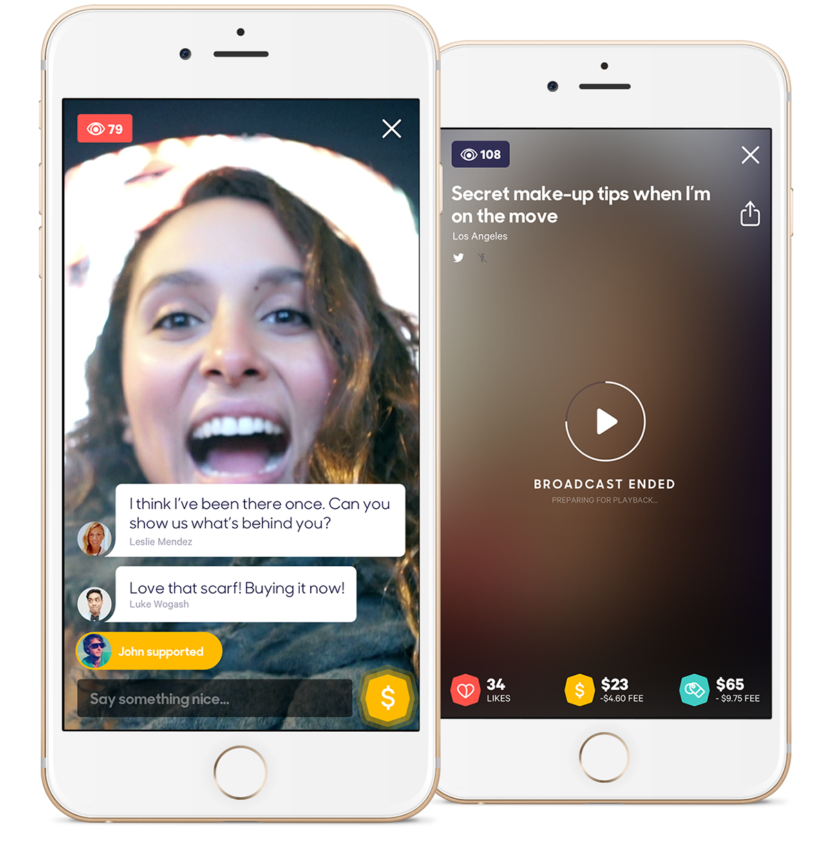 Busker, a video broadcasting app, enables viewers to engage in the stream by chatting, shopping and sending money.