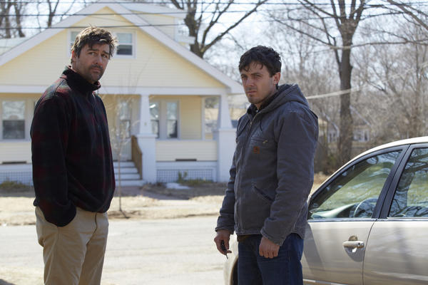 "Kyle Chandler, left, and Casey Affleck star in writer-director Kenneth Lonergan's ""Manchester by the Sea,"" which was picked up by Amazon at this year's Sundance Film Festival. (Roadside Attractions)"