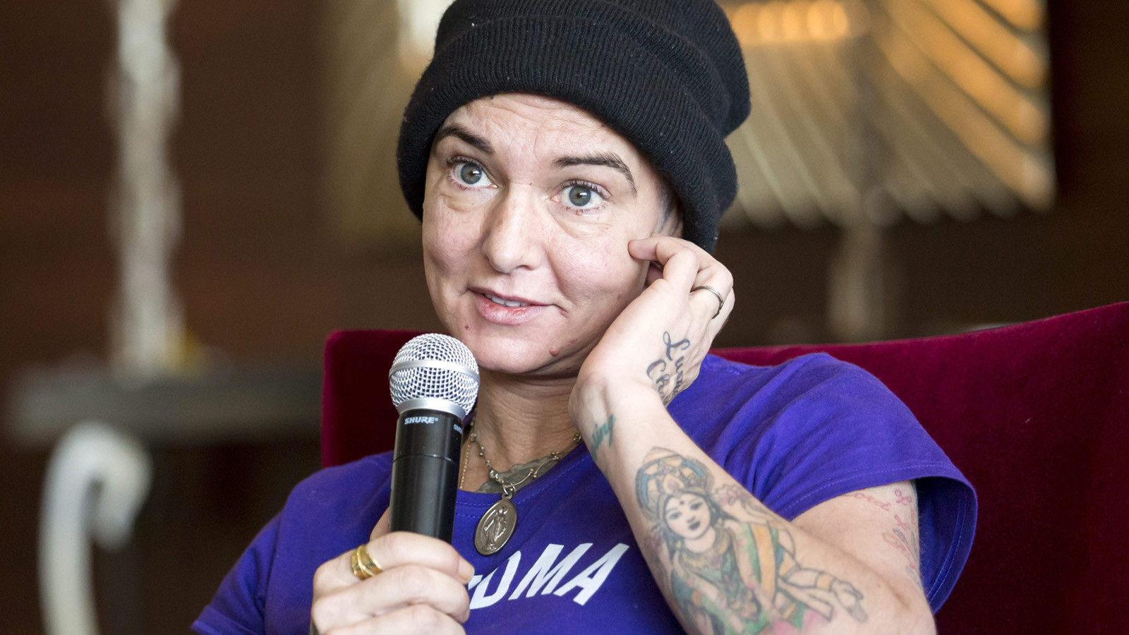 Sinead O'Connor shares a tearful video addressing her mental health struggles