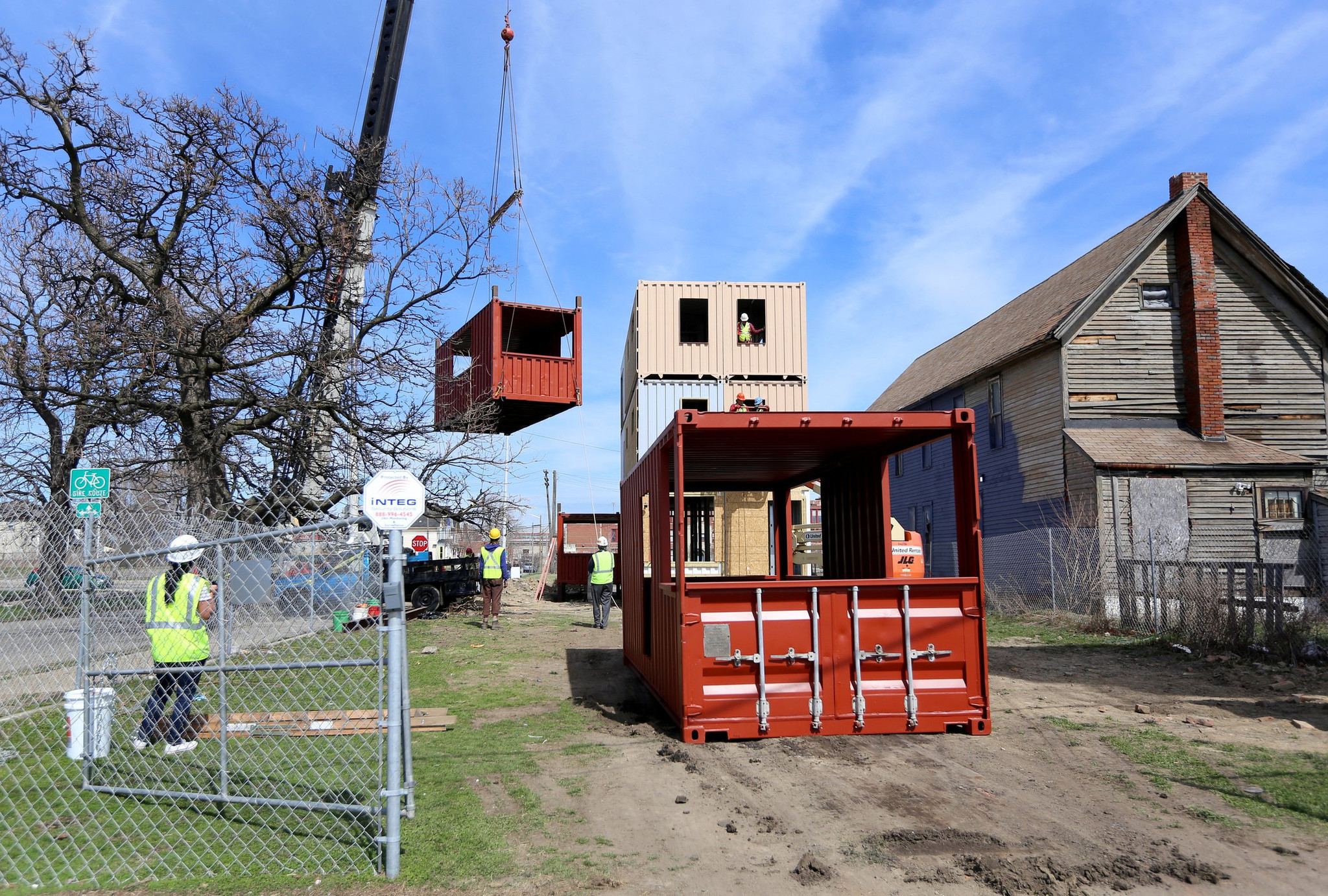 condos made of shipping containers in works in detroit - chicago