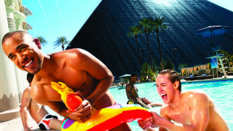 Temptation Sundays for the LGBT crowd happen every Sunday afternoon through September at the Luxor.