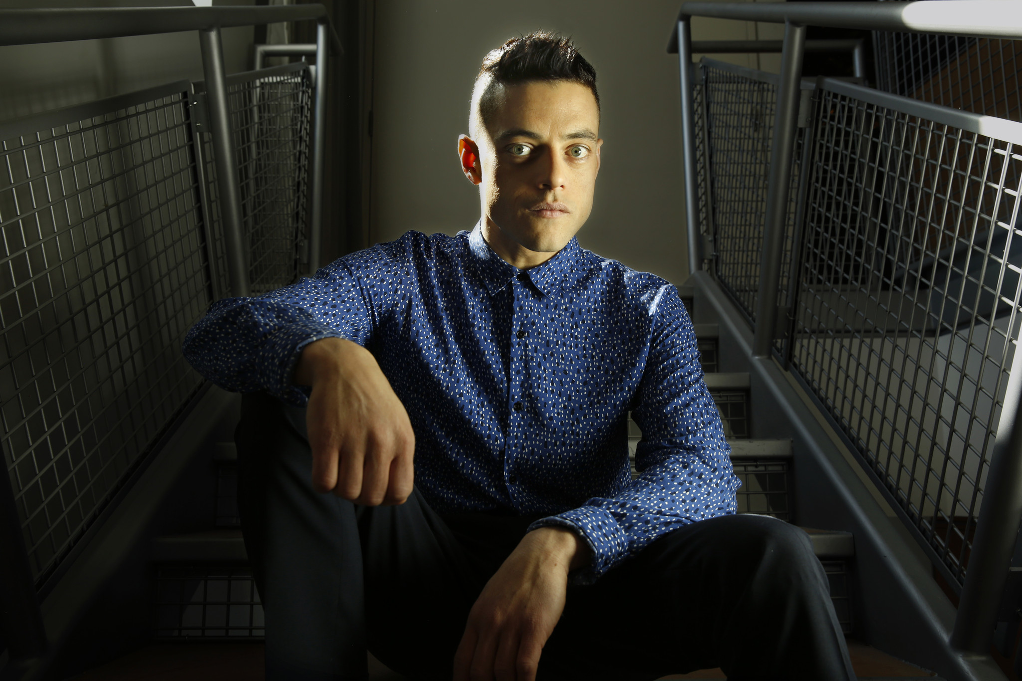 "Rami Malek stars in ""Mr. Robot."" (Carolyn Cole / Los Angeles Times)"