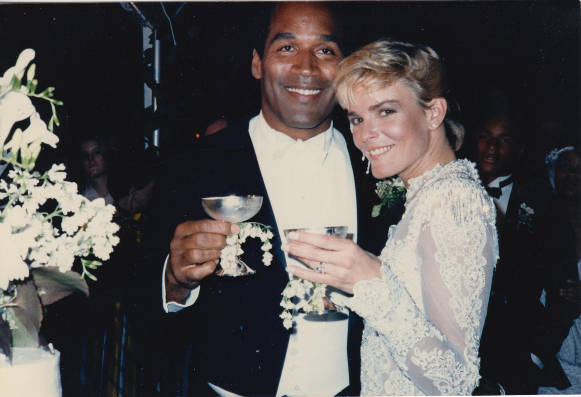 The wedding of O.J. Simpson and Nicole Brown Simpson.
