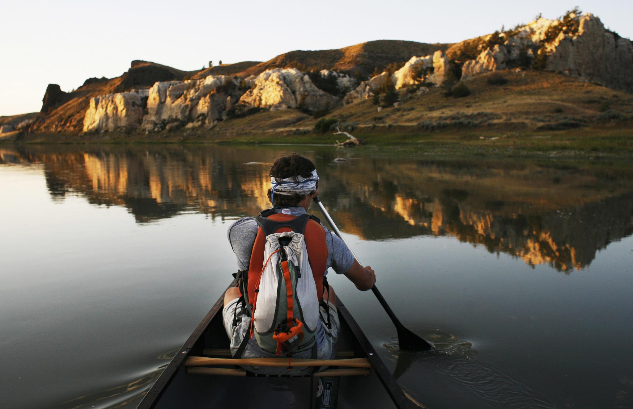 A Father And Son Make Like Lewis  Clark On A Missouri River Canoe - Los angeles river kayak map
