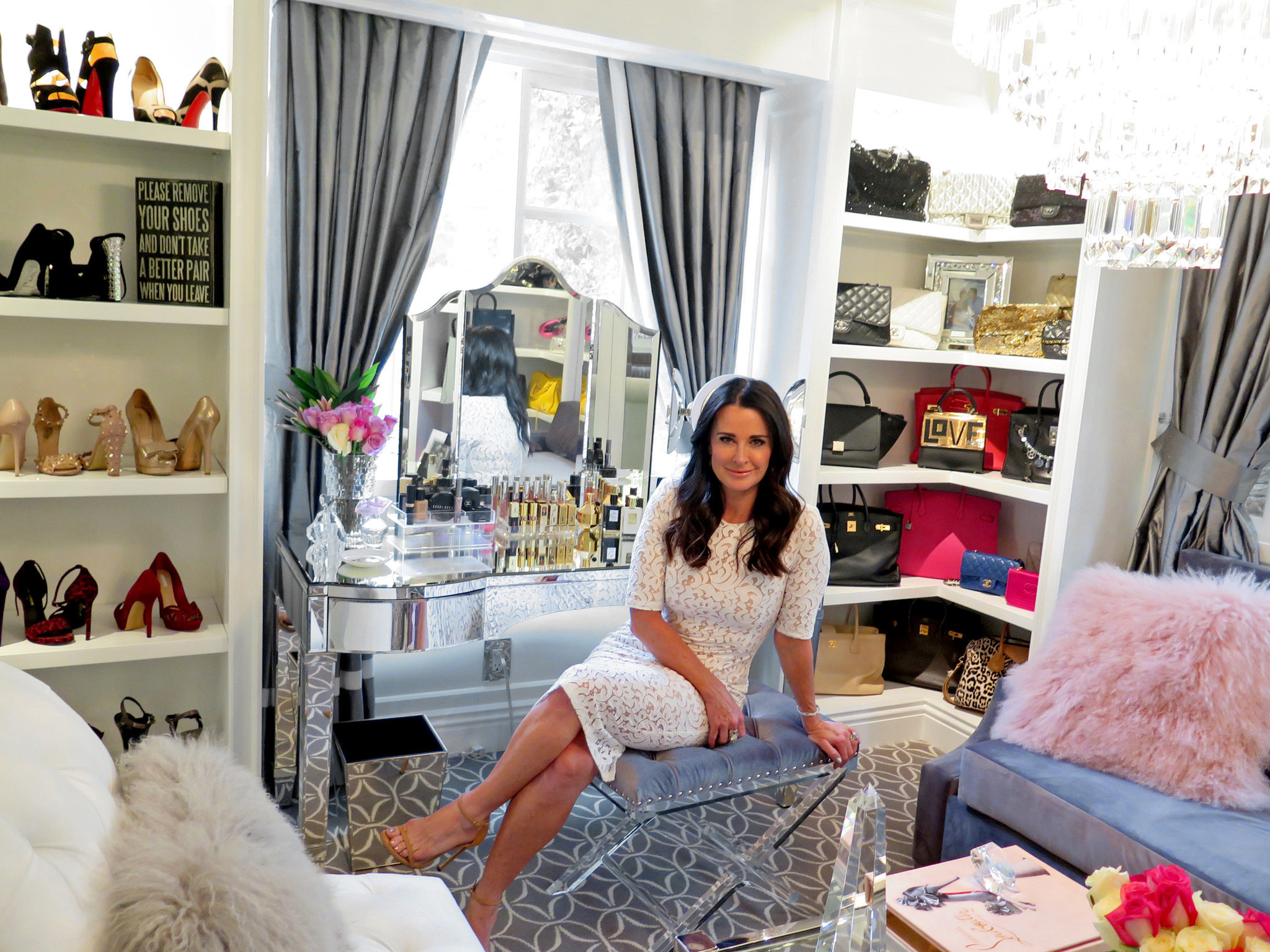 Kyle Richards converts home gym into dressing room - LA Times