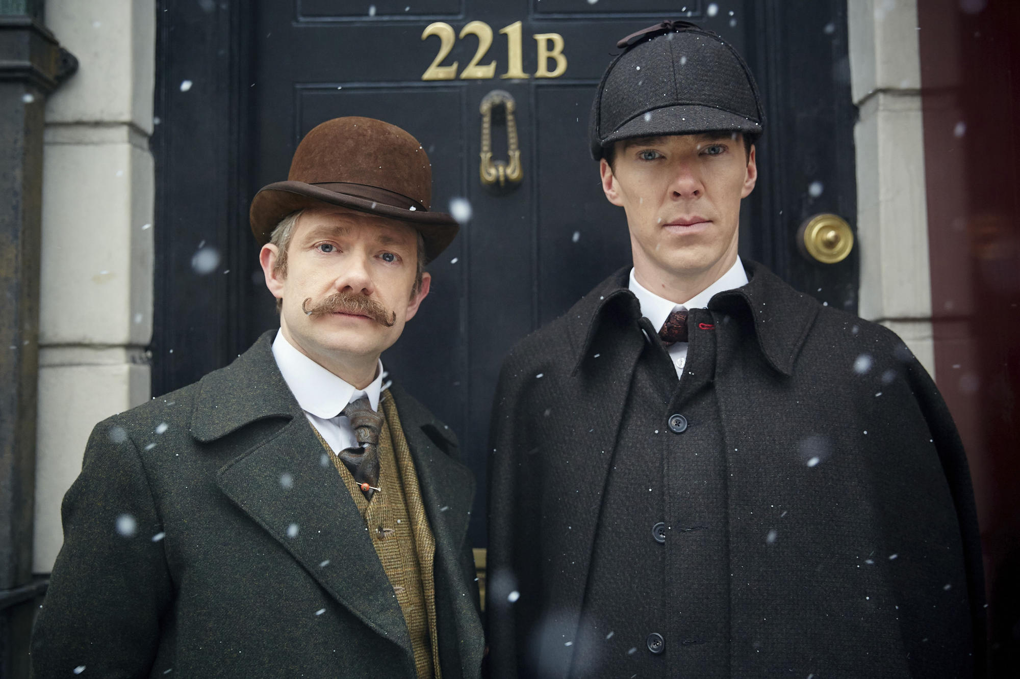 "A mystery that could stump even Sherlock (Benedict Cumberbatch, right) and Watson (Martin Freeman). ""Sherlock: The Abominable Bride"" debuted in theaters the same week it appeared on PBS. Is it a movie or a TV show?"
