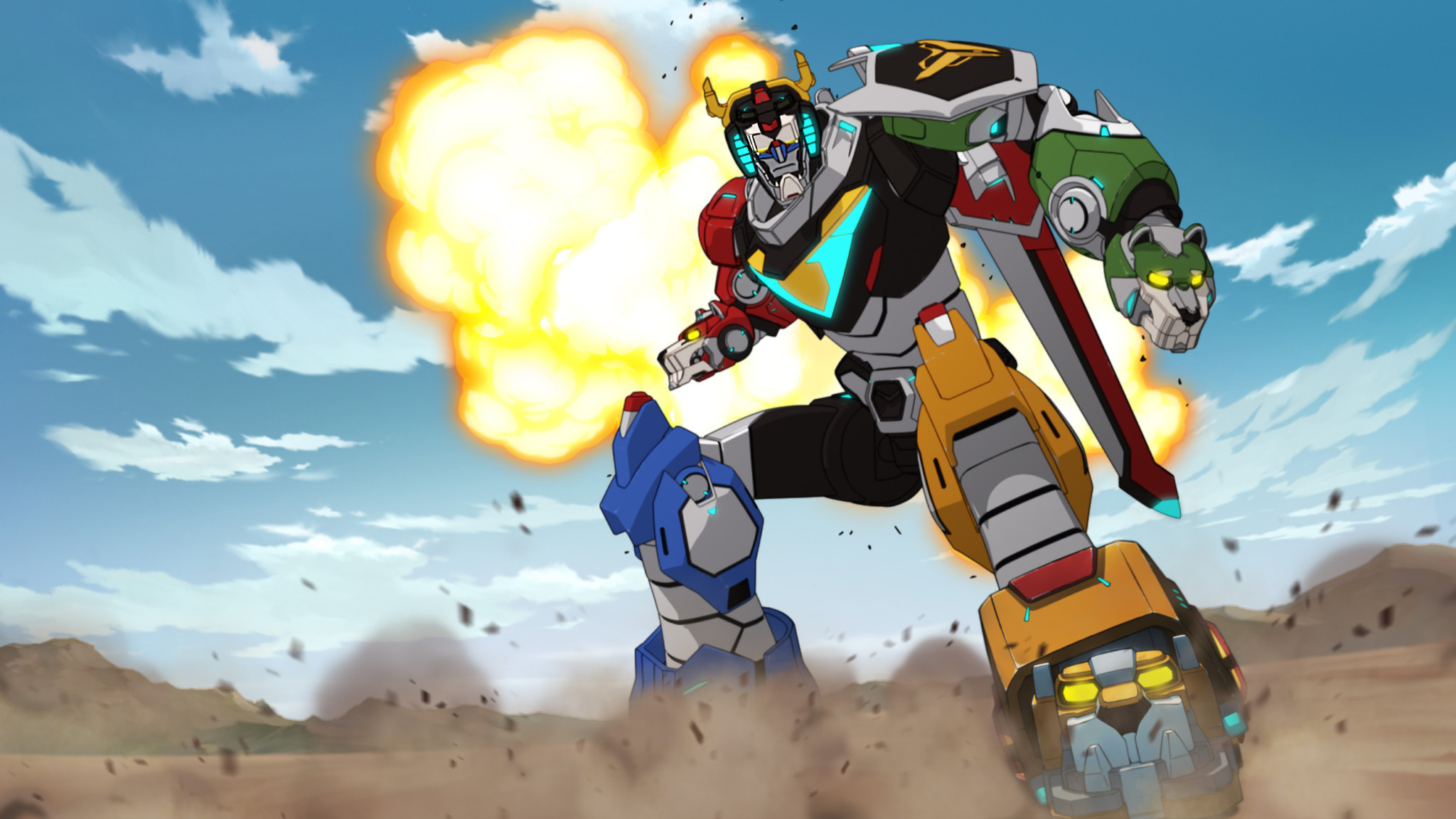 "Voltron gets an updated look in ""Voltron: Legendary Defender."""