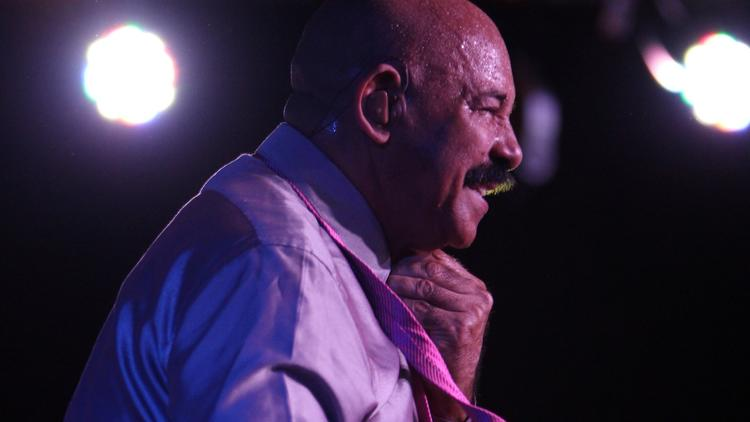 LOS ANGELES, CA - MAY 25, 2012: Artist Oscar D'Leon performs at the the 14th Annual International Salsa Congress, which runs May 24-27, 2012 at The Westin Bonaventure in Downtown Los Angeles and at the Conga Room. (Francine Orr/ Los Angeles Times)