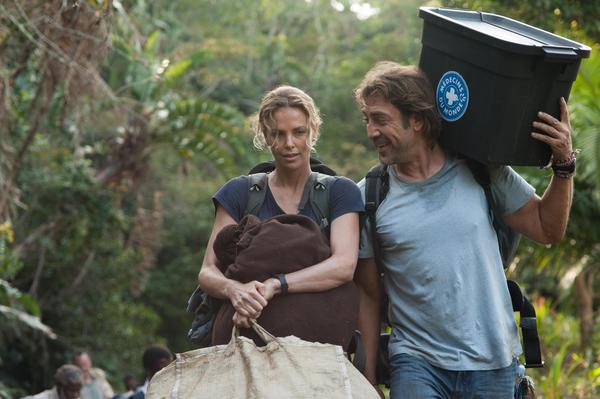 """Charlize Theron and Javier Bardem in """"The Last Face."""" (Kelly Walsh)"""
