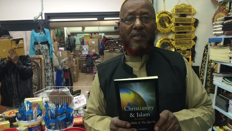 Bookseller Mohamed Yusuf in his Minneapolis store.