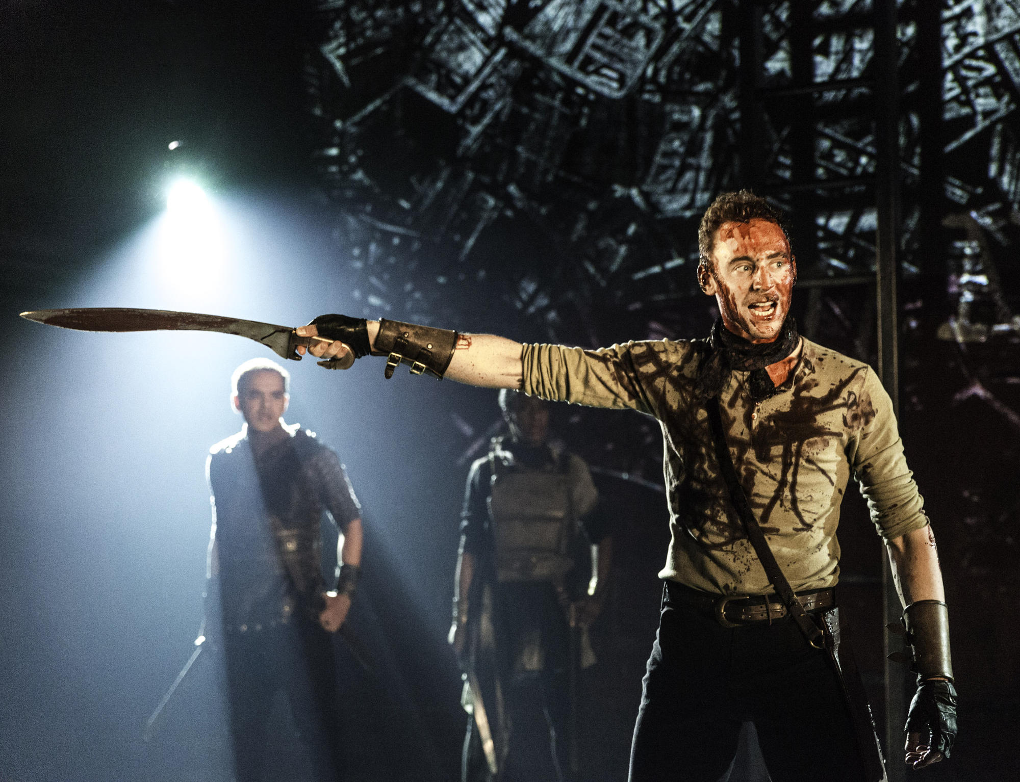 Tom Hiddleston as  'Coriolanus' at the Donmar Warehouse in 2013.