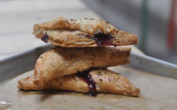 Cherry rye hand pies
