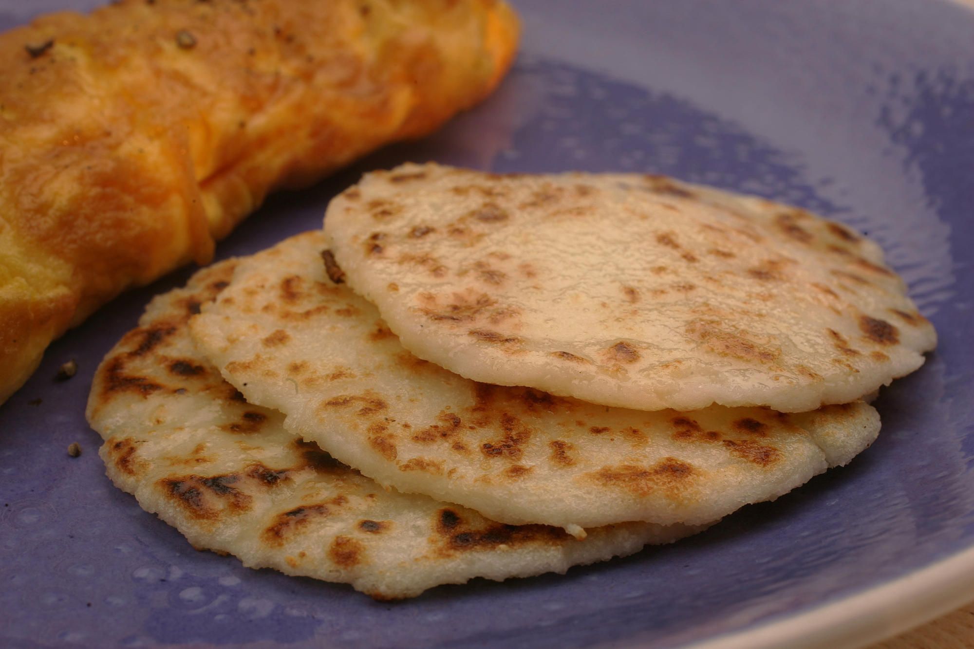 Arepas made of corn flour