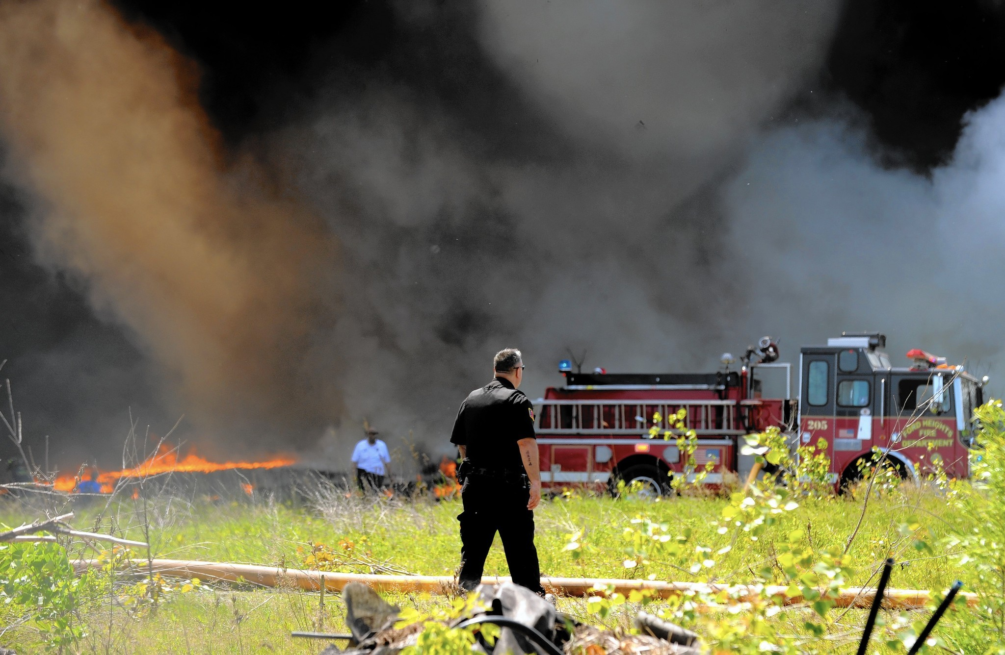 Smoke from fire at ford heights tire recycling center seen for miles daily southtown