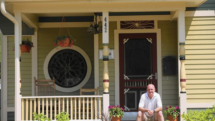Porch of Elgin home