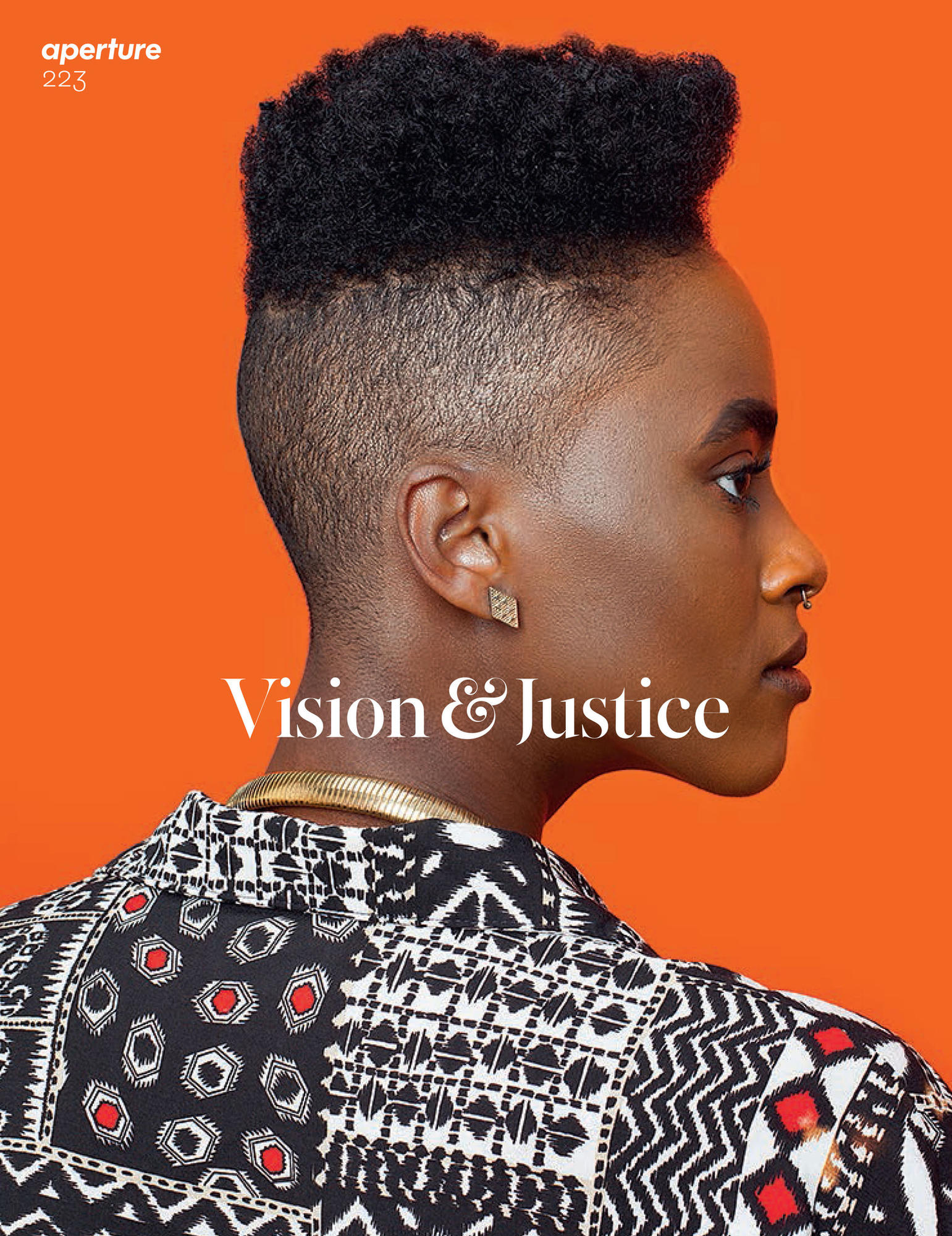 "One of two covers of Aperture Magazine's Summer 2016, ""Vision & Justice"" issue. Awol Erizku, Untitled (Forces of Nature #1), 2014."