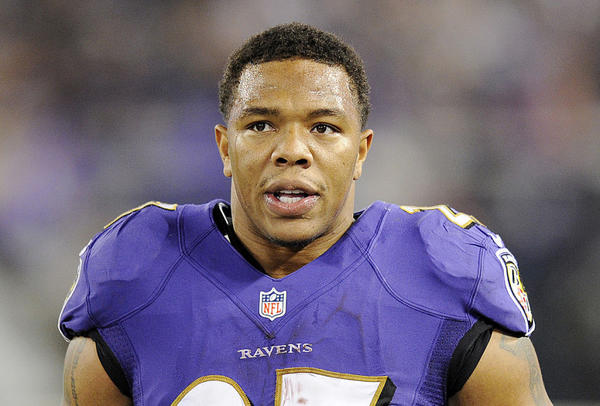 Ray Rice returns to Ravens' facility to speak to rookies