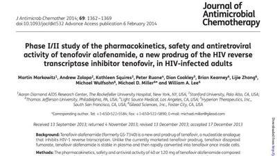 Gilead study of tenofovir