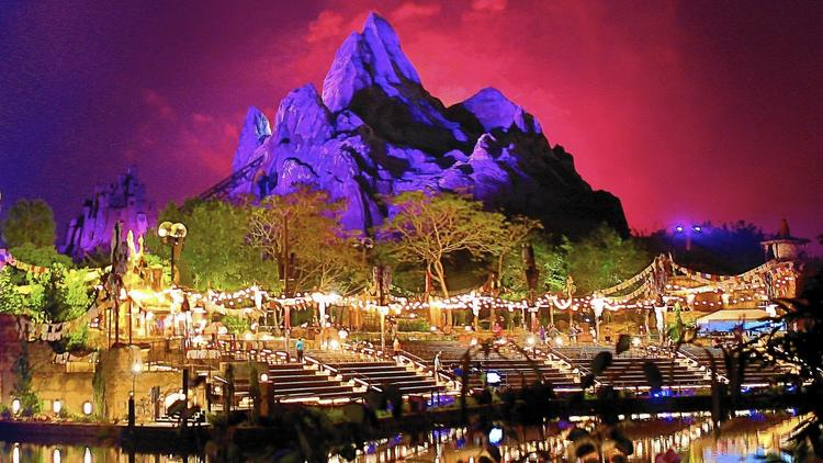 Pictures: Disney's Animal Kingdom at night