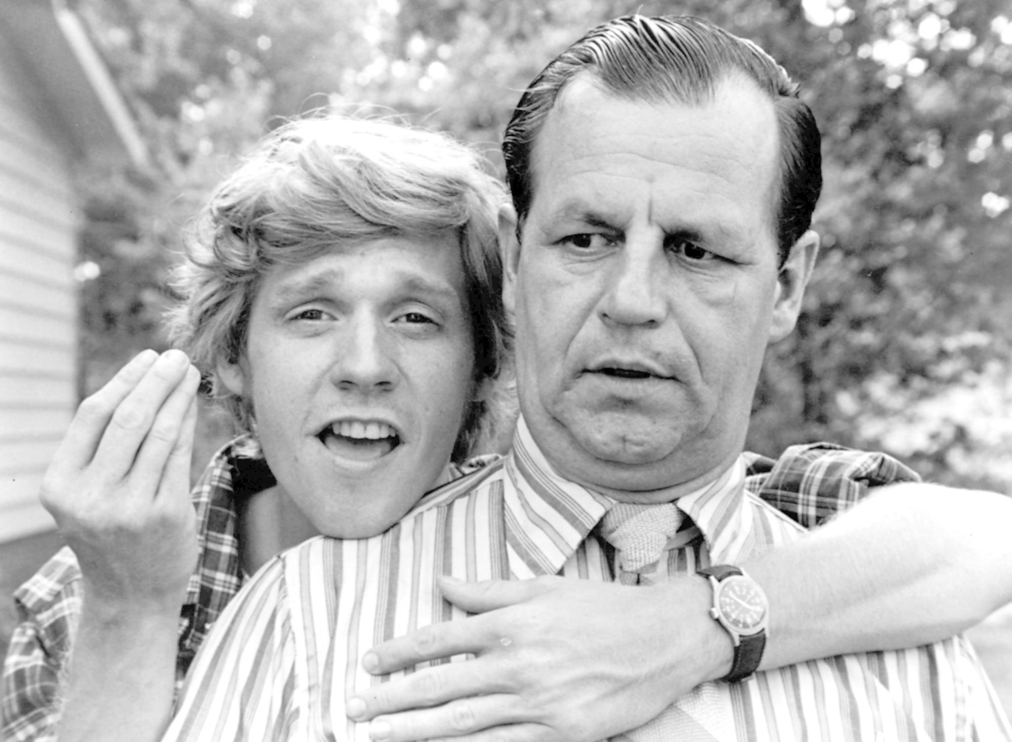 """Dave (Dennis Christopher) with his dad (Paul Dooley) in the 1979 film """"Breaking Away."""""""