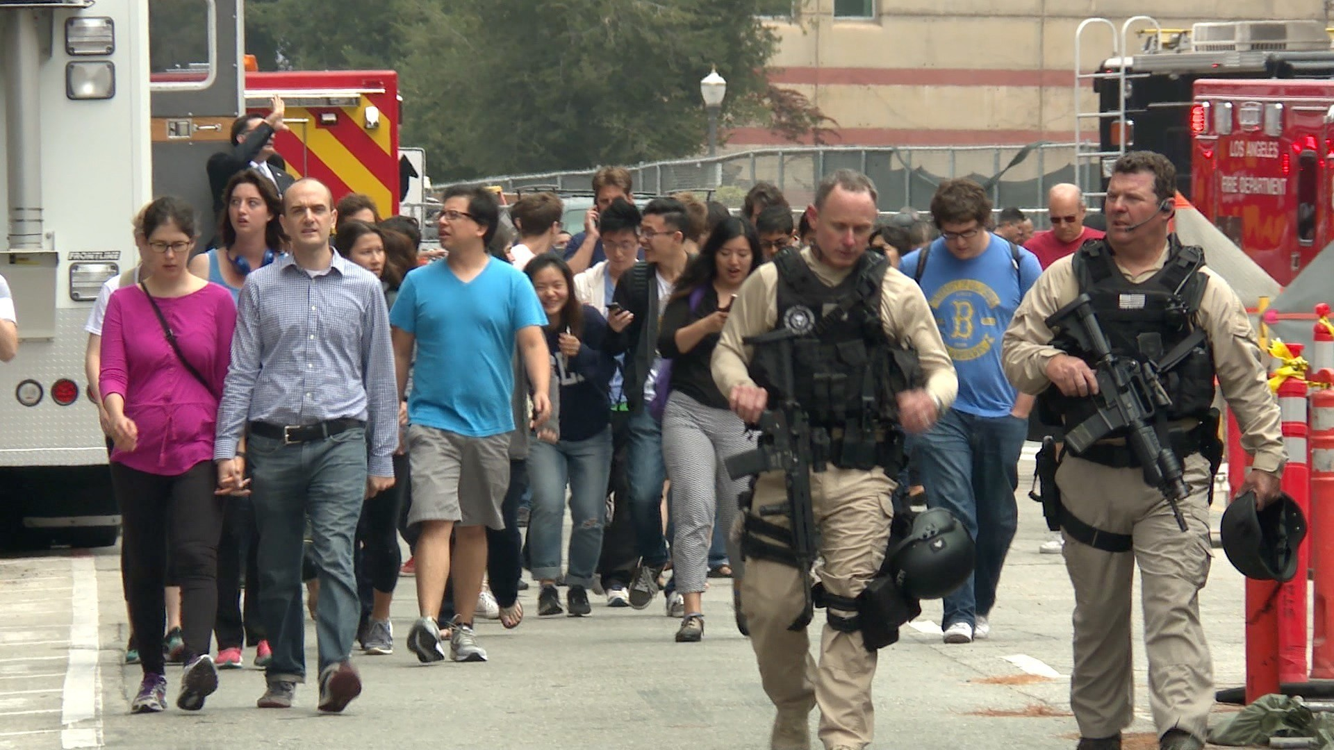 ucla campus shooting students in lockdown la times