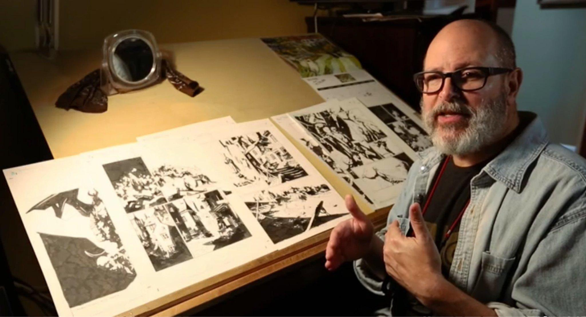 In The Studio Where Hellboy Is Made Mike Mignola Says
