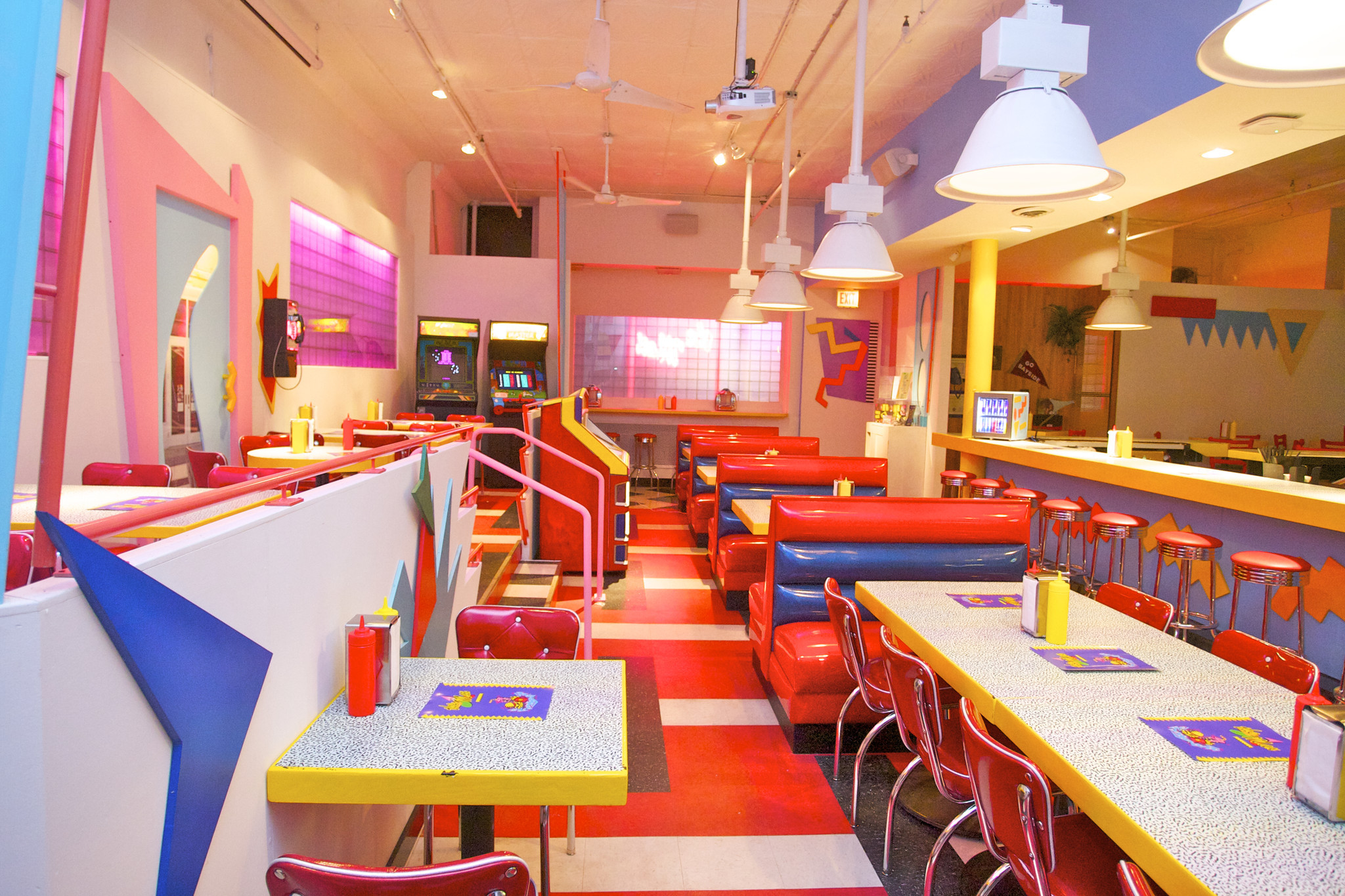 photos the saved by the bell themed diner in chicago s wicker