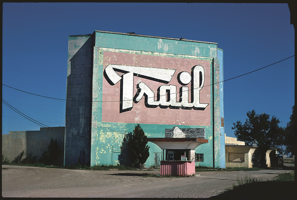The Trail drive-in theater, Amarillo, Texas, 1982.