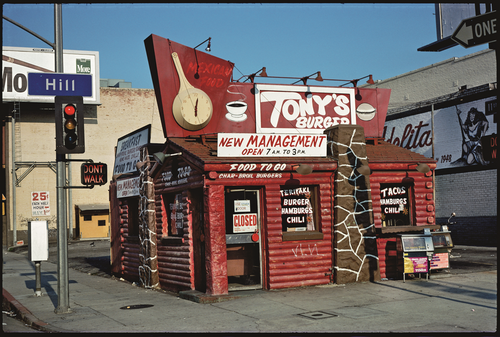 Tony's Burger, Los Angeles, 1976.