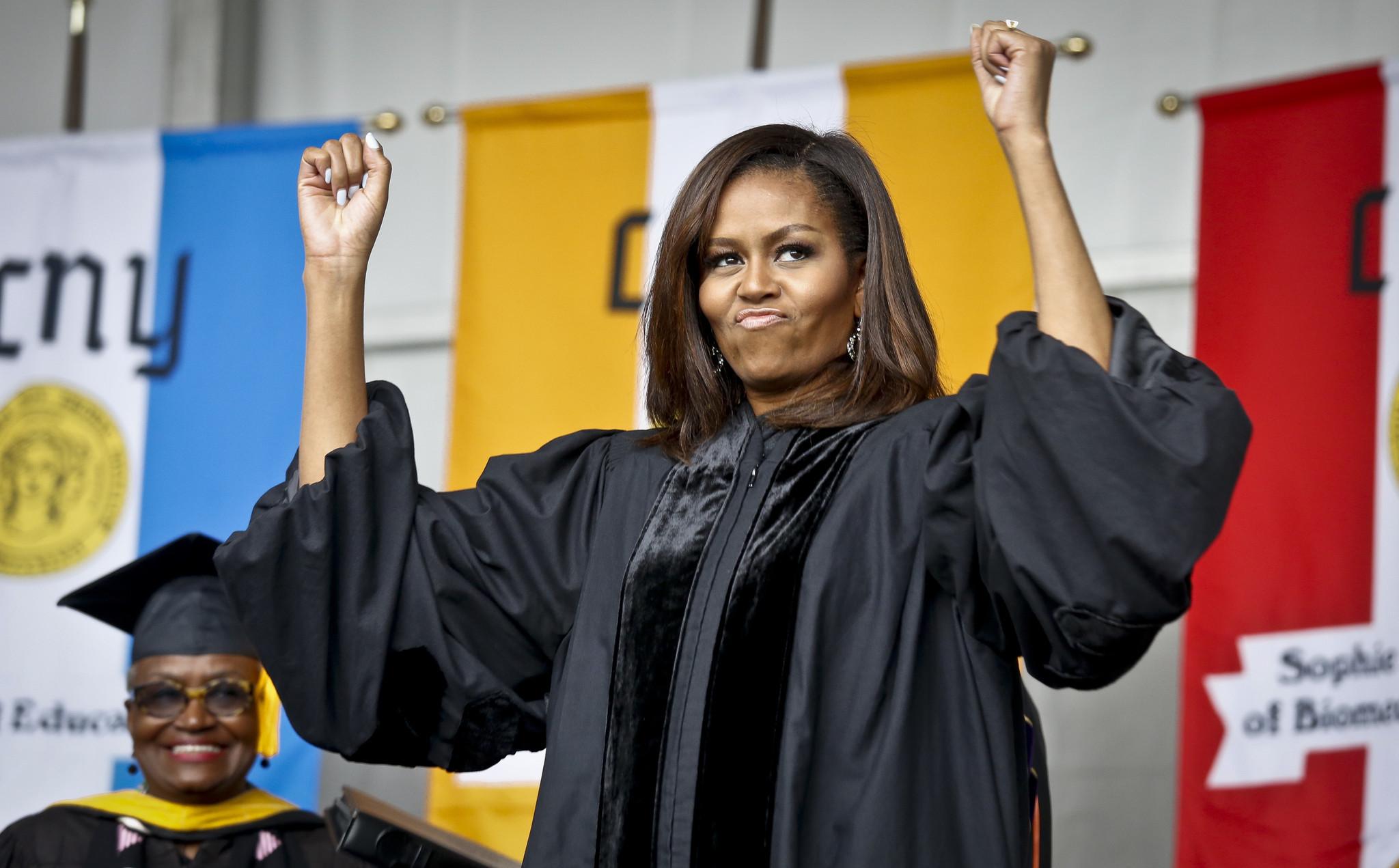 Michelle Obama praises diverse grads in her final ... Michelle Obama Graduation