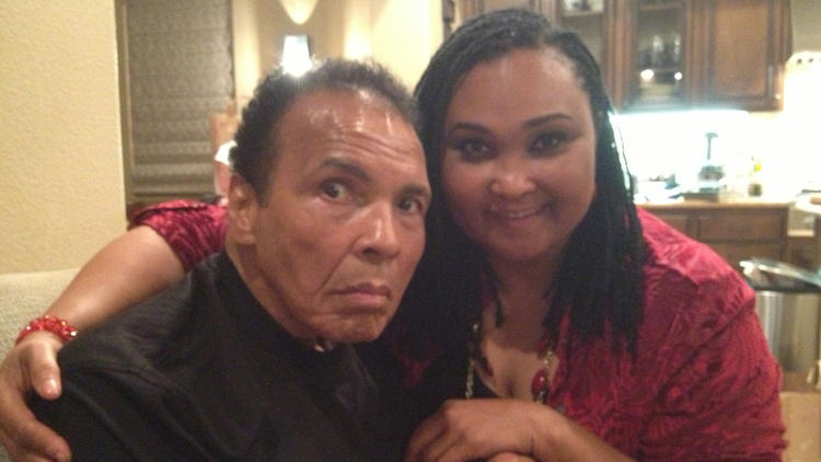 Muhammad Ali and Maryum Ali
