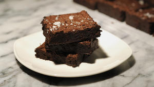 Rye chocolate brownies