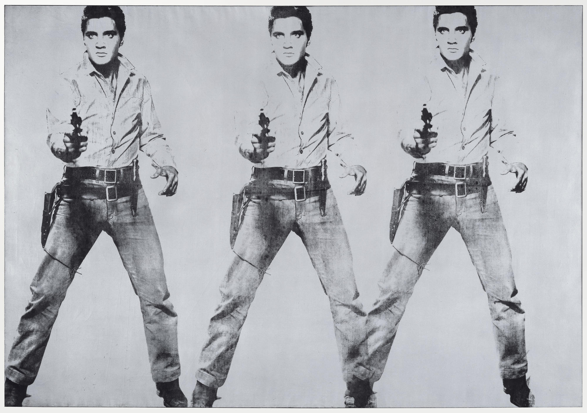 "Andy Warhol's ""Triple Elvis"" at the San Francisco Museum of Art."