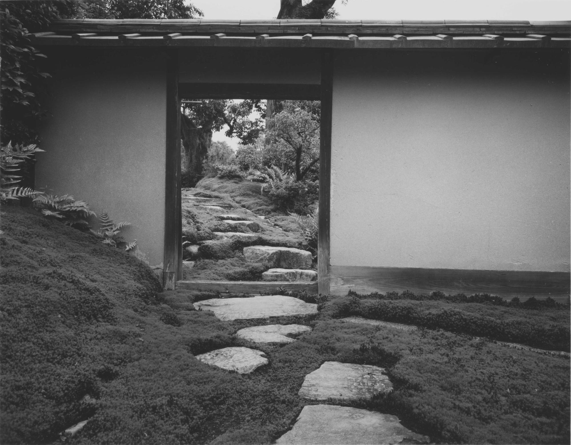 Stepping stones from the Imperial Carriage Stop to the Gepparo pavilion at Katsura Imperial Villa, near Kyoto, Japan, photographed by Yasuhiro Ishimoto, 1954, gelatin silver print.