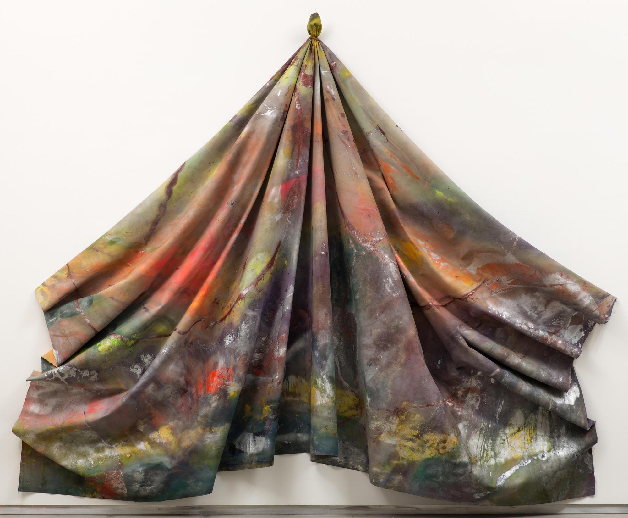 "Sam Gilliam, ""Leaf,"" 1970, acrylic on canvas, 130 by 160 by 16 inches"