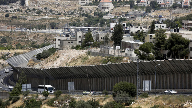 Parts of the separation wall near Bethelehem in the West Bank.