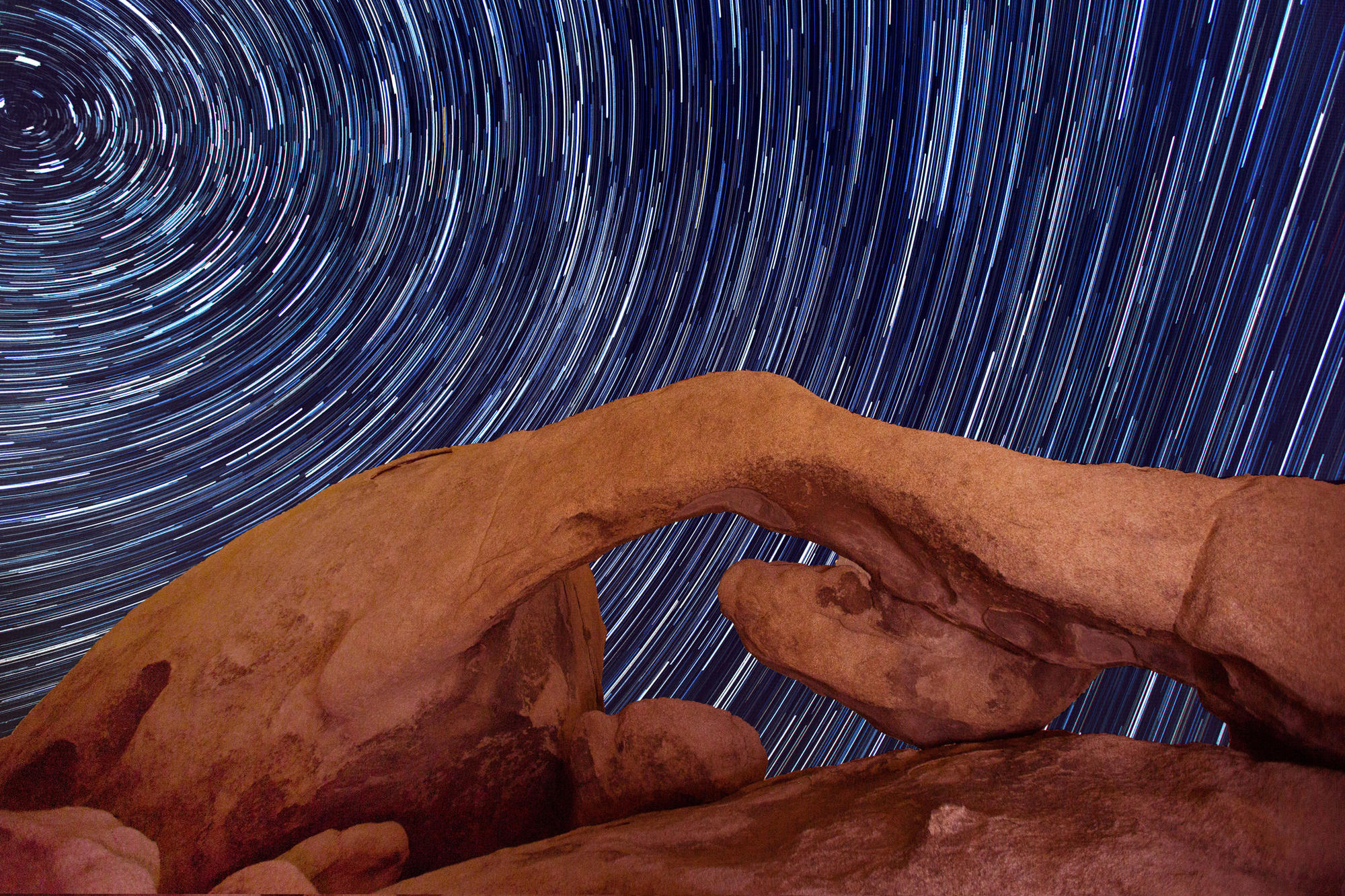 This image of Joshua Tree National Park near the White Tank area is a result of 70 stacked photographs.
