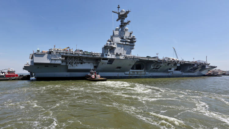 "Pictures: Gerald R. Ford ""CVN78"" turn around"