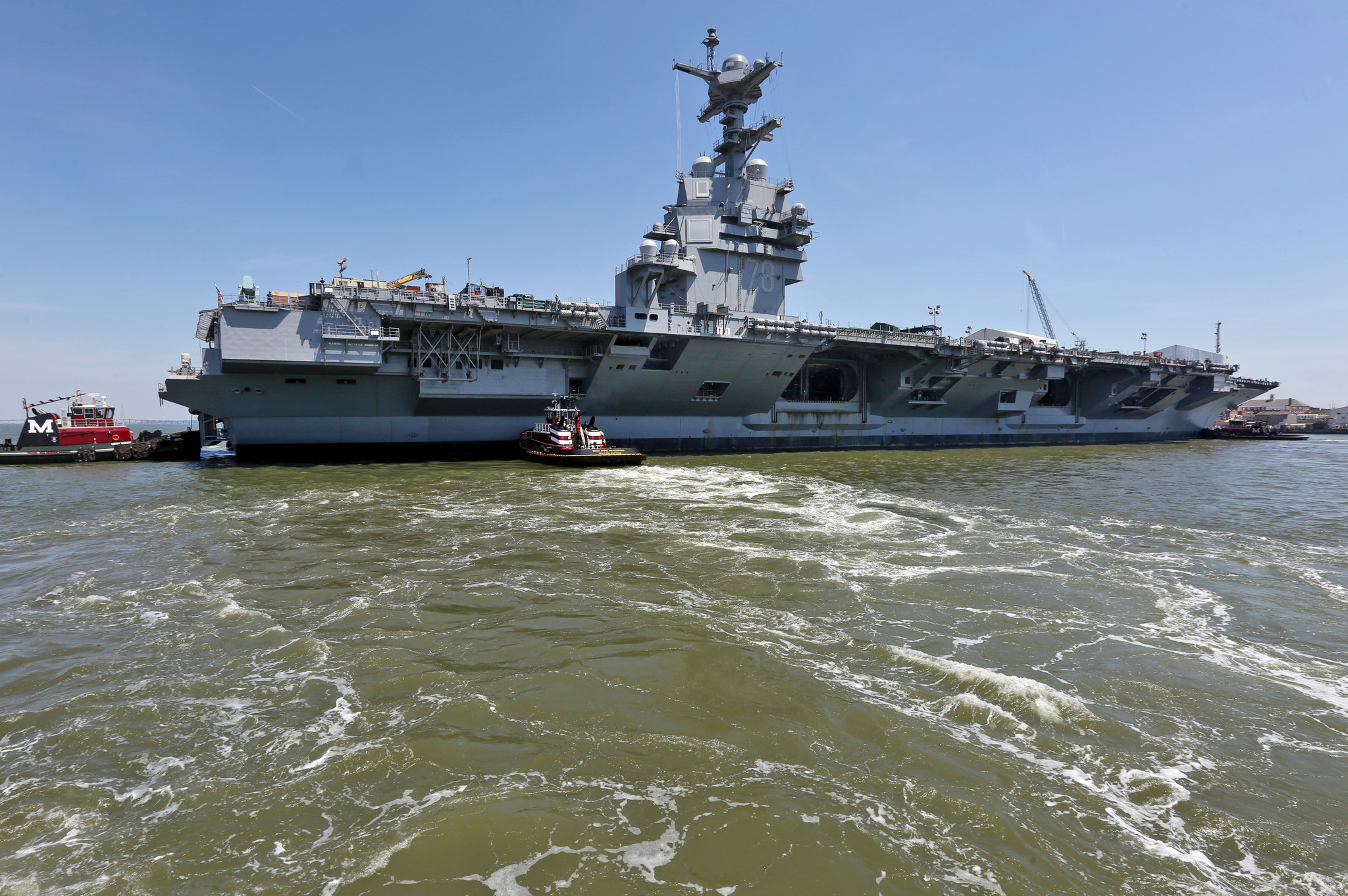 aircraft carrier gerald r ford takes a 180 degree spin daily press