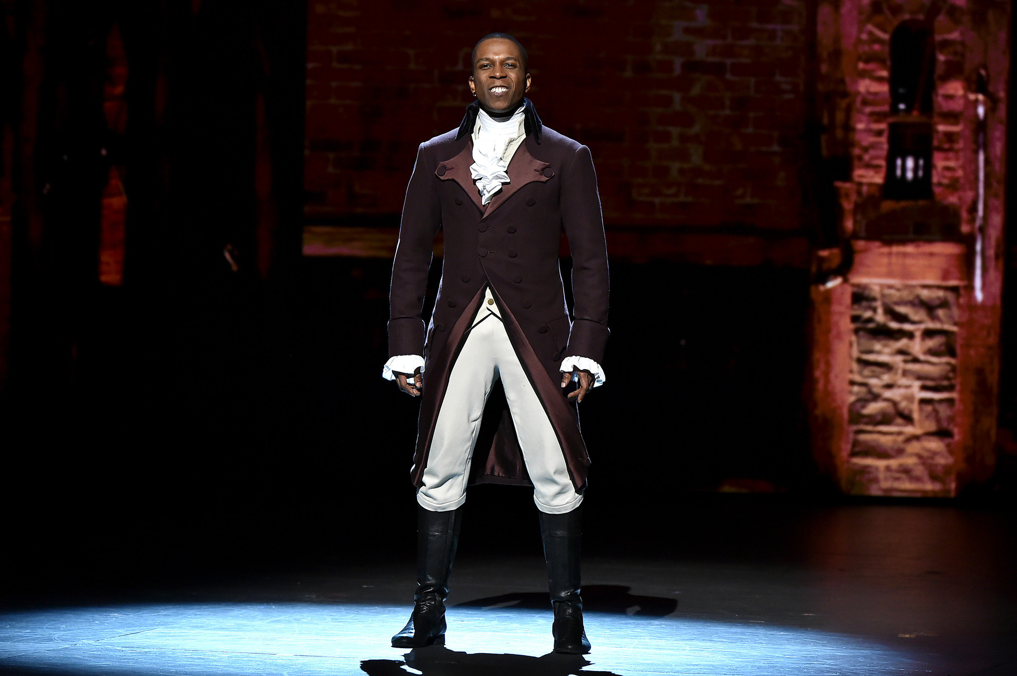 Leslie Odom Jr Wins For Lead Actor In A Musical For