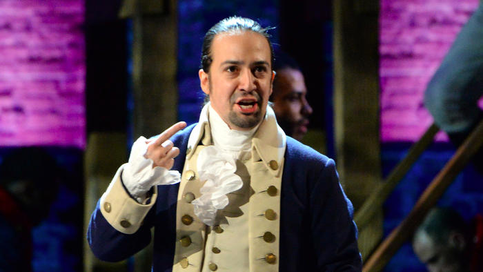 "Lin-Manuel Miranda of ""Hamilton"" performs at the 70th Tony Awards. The telecast delivered its highest rating in 15 years. (Getty Images)"