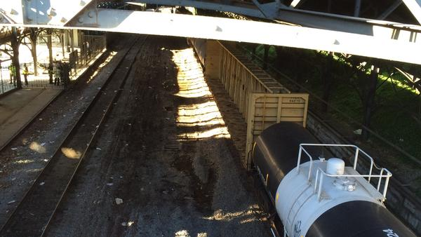 Train derailed in Howard Street Tunnel