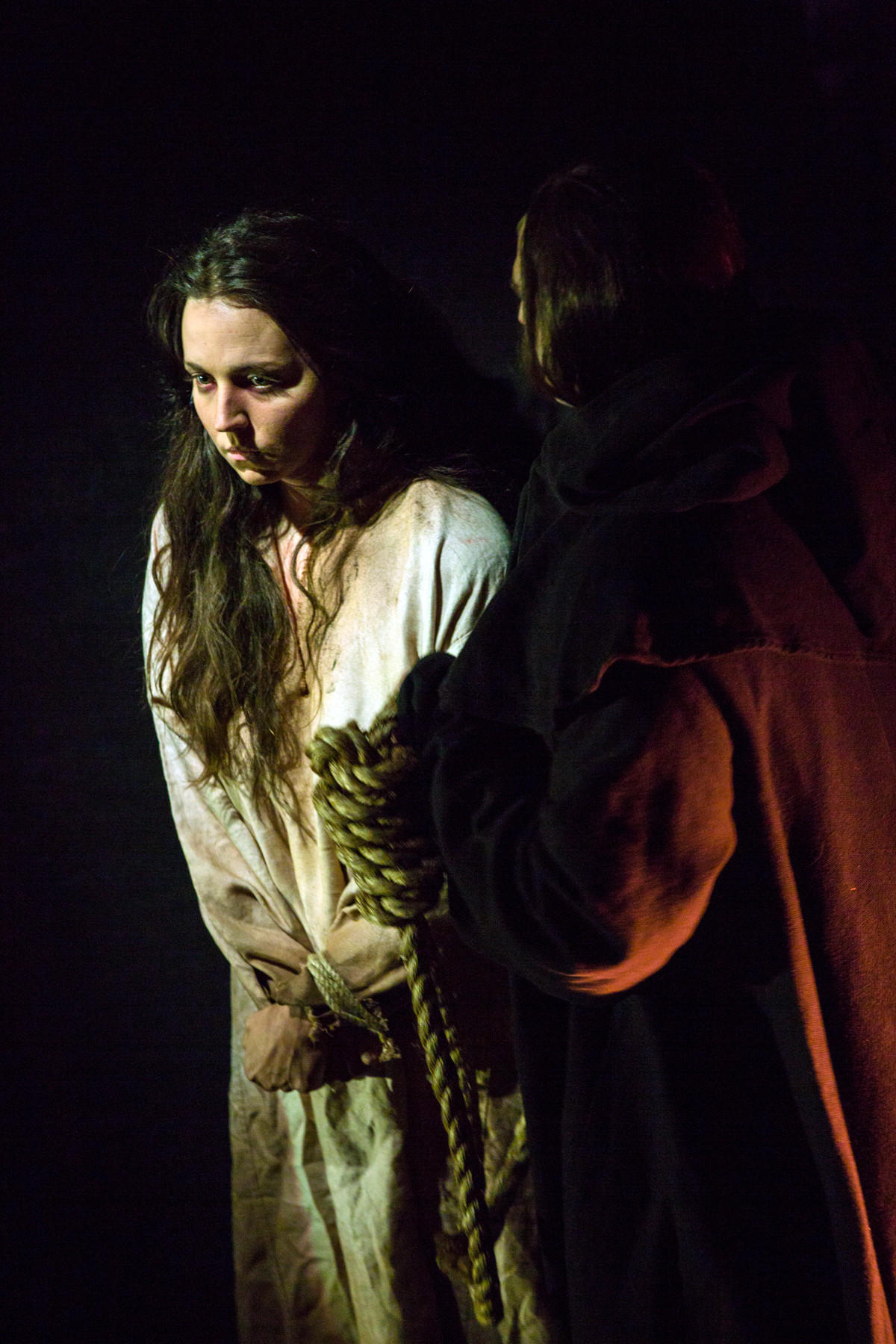 "Peabody Southwell as Sarah Osborne in a 2016 workshop of ""Anatomy Theater."""