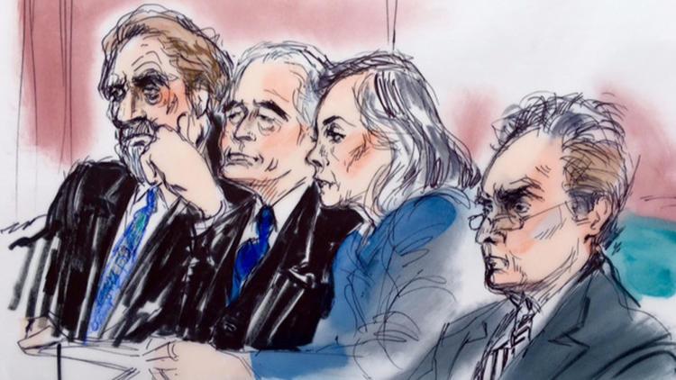 Led Zeppelin members at trial