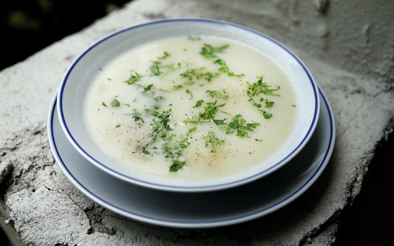French leek and potato soup