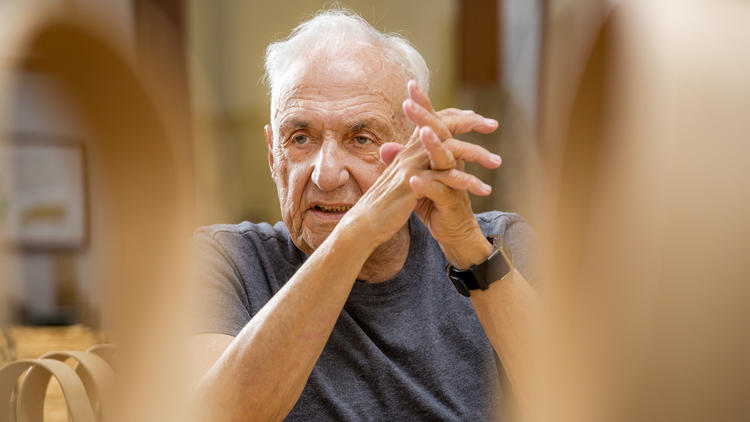Architect Frank Gehry is seen in his Playa Vista office in September 2015.