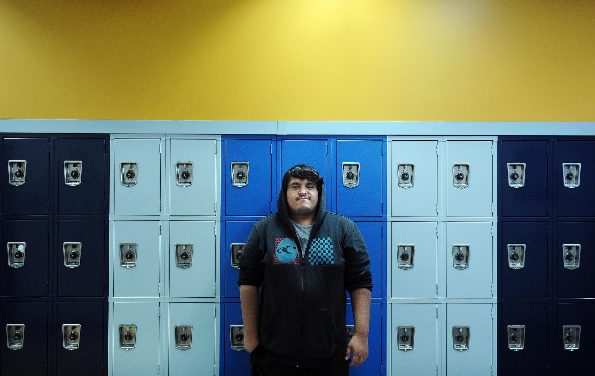 Angel Macias at Jordan High School.