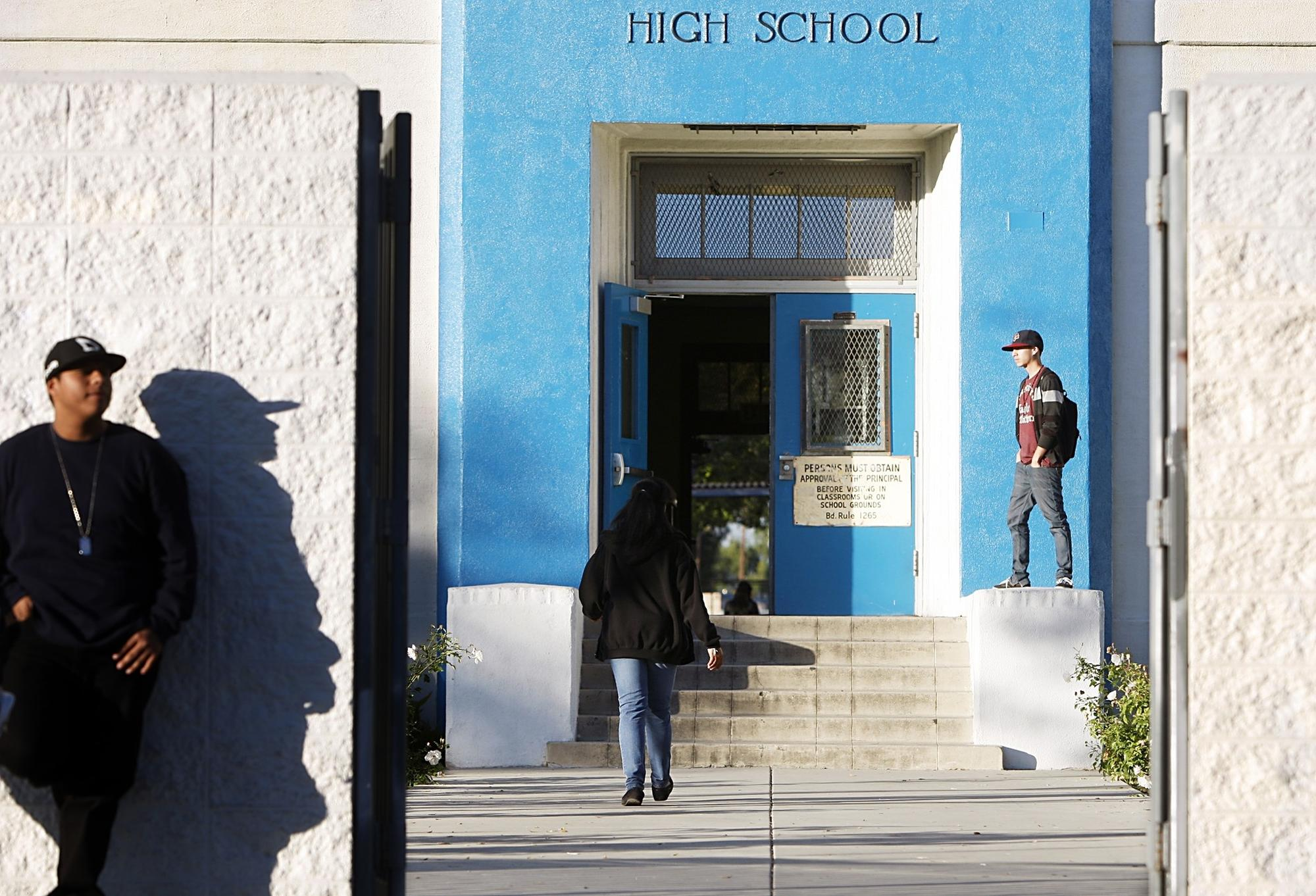Jordan High School was split into Green Dot, a charter school, and a school run by the Partnership for Los Angeles Schools.