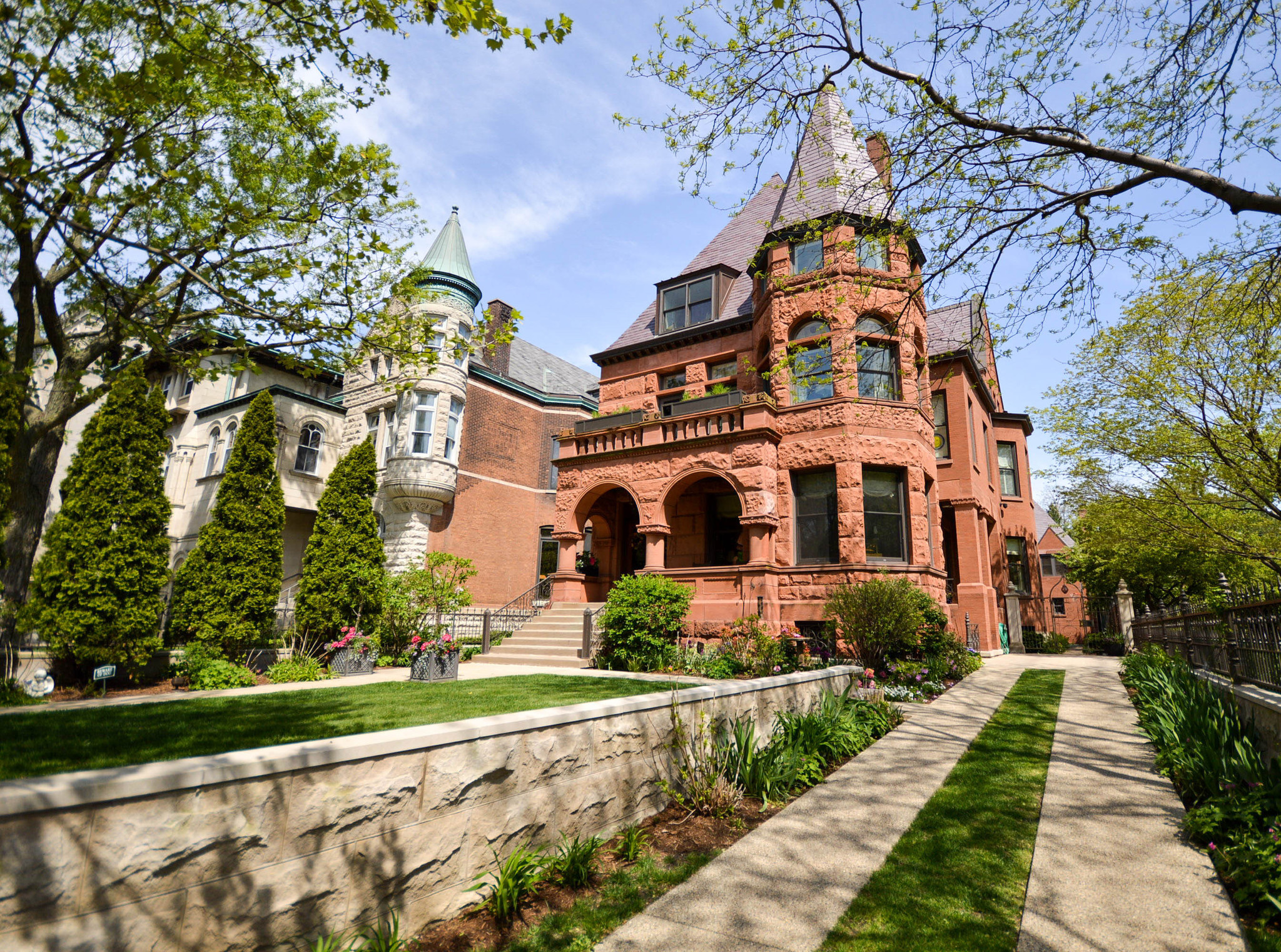 romanesque revival mansion with coach house in law apartment