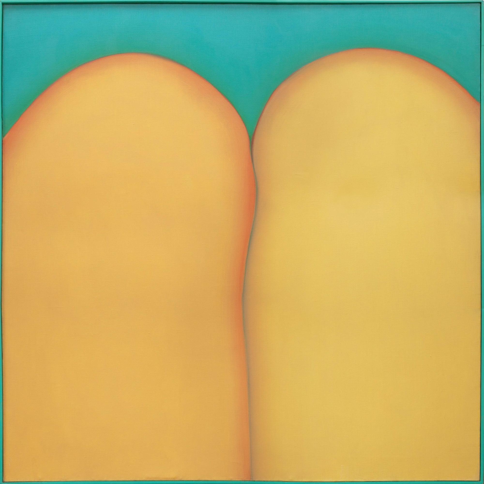 """Huguette Caland, """"Bribes de corps,"""" 1973, oil on linen"""